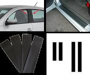 Adesivo Automotivo Tuning Colunas e Soleiras Universal Carros 4 Portas