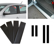 Kit Adesivo para Colunas e Soleiras Universal Carros 4 Portas