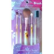 Kit Pincel Maquiagem 5 Peças