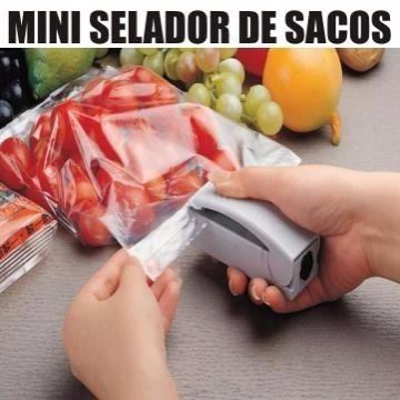 Mini Maquina Seladora Embalagem Plastica Portátil A Pilha