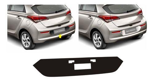 Adesivo Tuning Fundo Placa Hyundai HB20 Hatch anos 2016, 2017, 2018, 2019