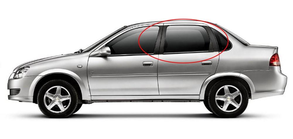 Adesivo Tuning  Coluna Corsa Sedan Classic 4p