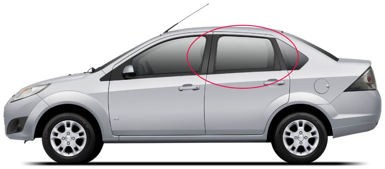 Adesivo Tuning Coluna Texturizado New Fiesta Sedan