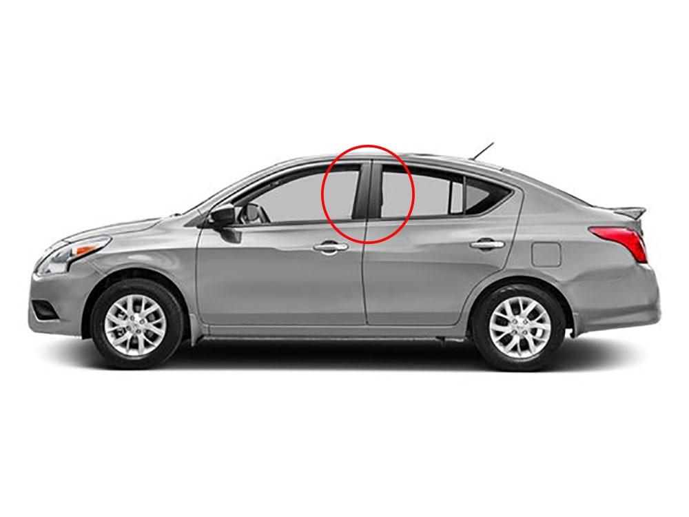 Adesivo Tuning Coluna Texturizado Nissan Versa