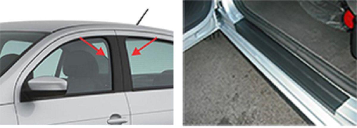 Adesivo Automotivo Tuning Colunas e Soleiras Universal Carros 2 Portas