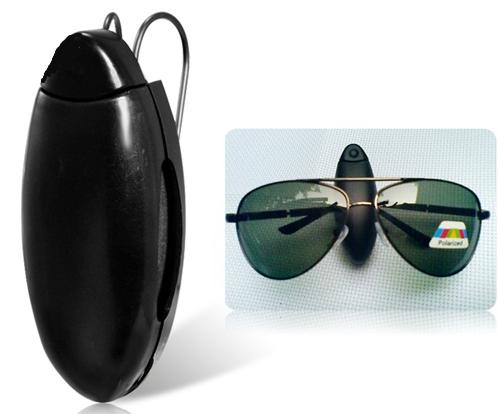 kit Trava Universal Para Cinto De Segurança e Porta Óculos Preto