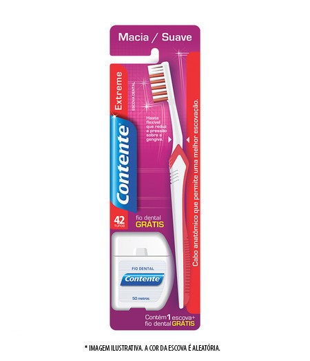 Escova Dental Contente Extreme + fio dental 50m GRÁTIS