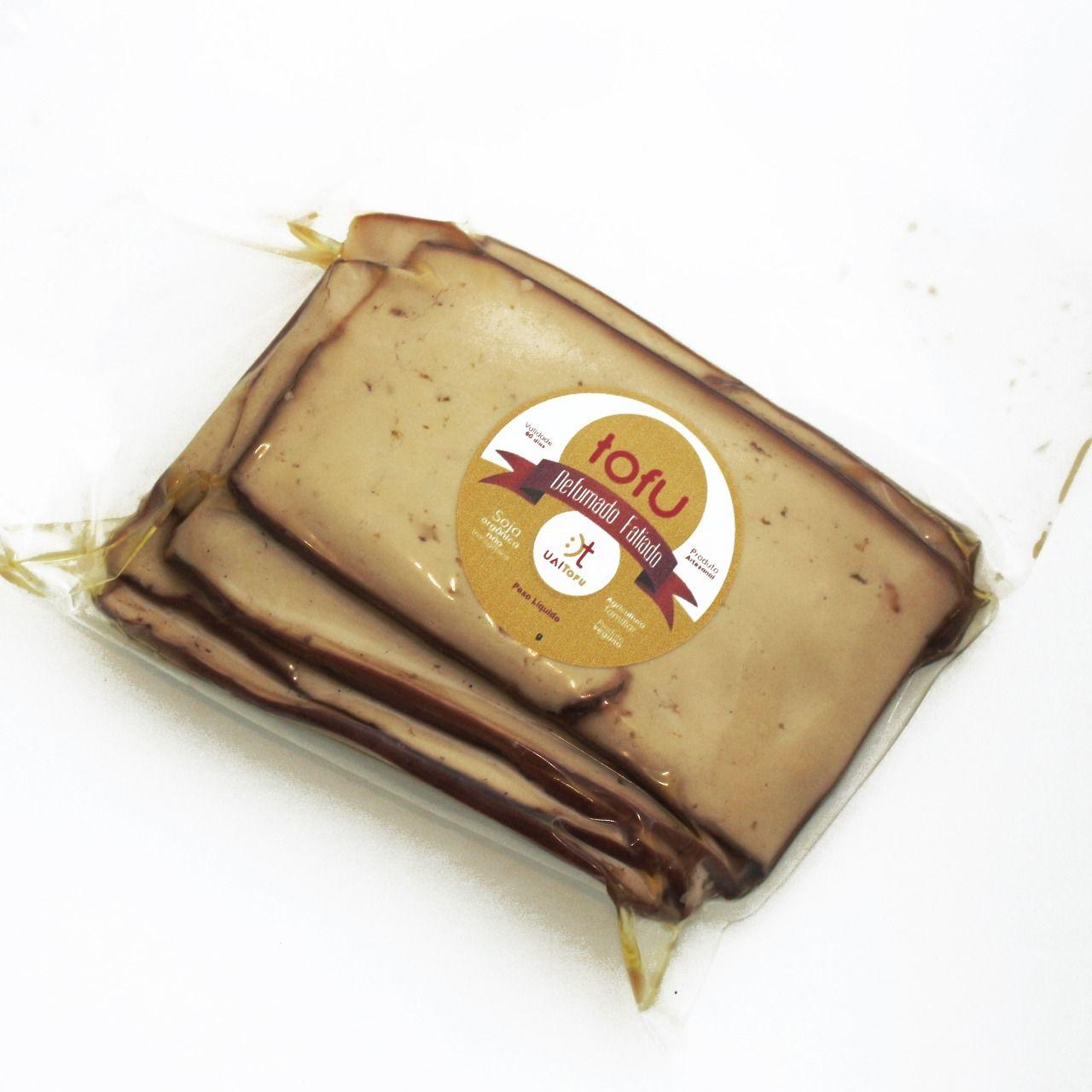 Fatiado defumado (tipo bife) UAI Tofu  400-500g ( TAMANHO MAIOR, NOVO FORMATO)