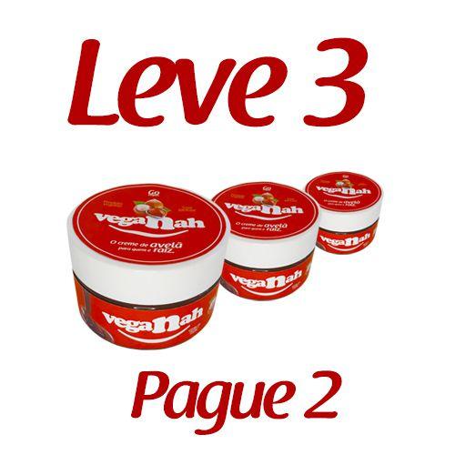 KIT 3 VEGANAHS Creme de Avela e Cacau Vegano (200g cada pote)