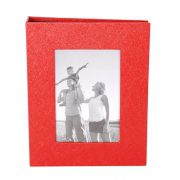 Álbum 200 Fotos 10x15 Square Vermelho C/ Janela  Wb-562