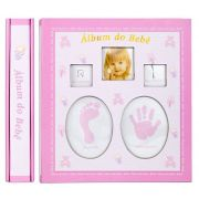 Álbum do bebê 120 fotos 10x15 Rosa Square 120/57