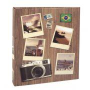 Álbum Viagem 200 Fotos 10x15cm Com Ferragem - Ical 586