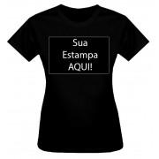 Camiseta Personalizada Preta Adulto (Baby Look)