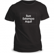 Camiseta Personalizada Preta Adulto (GG ou EG)