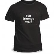Camiseta Personalizada Preta Adulto (P ou M)