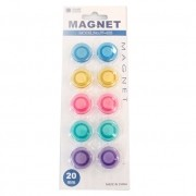 Imã Colorido Para Geladeira Pacote com 10 Unid Pf-433
