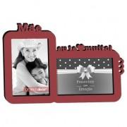 Porta-Retrato Duplo 10x15 Mãe te amo muito Rubi Geniale 21