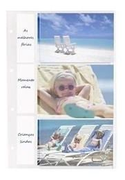 Refil 10 folhas para álbuns de 300/450/600 Fotos Rec 10x15 Branca