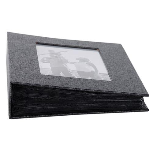 Álbum 200 Fotos 10x15 Preto Square C/ Janela Wb-560