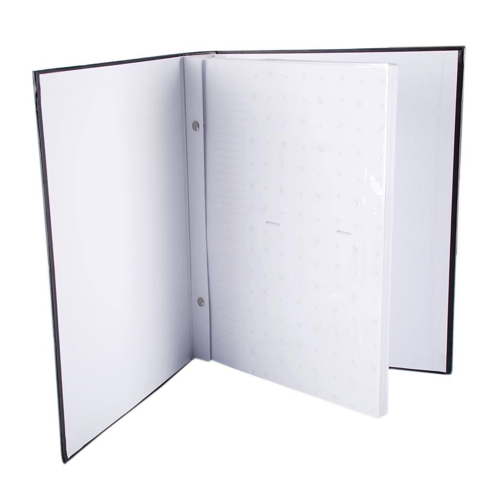 Álbum 200 Fotos 13x18 Marfim Folhas Brancas Rec 109/27