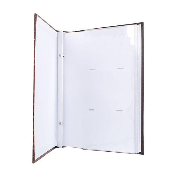 Álbum 400 Fotos 13x18 Marfim folhas brancas Rec 109/06