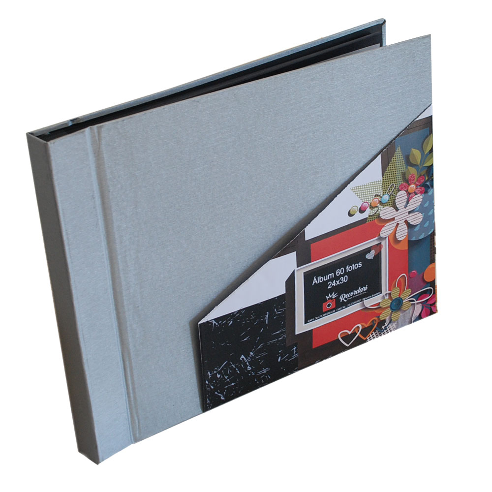 Álbum 60 Fotos 24x30 Paint Rec 100/21 com Cantoneira