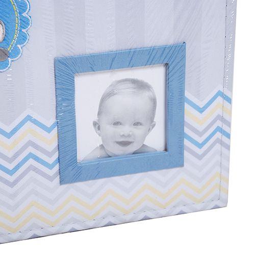 Álbum do bebê 200 fotos 10x15 - elefantinho azul  Ical 811