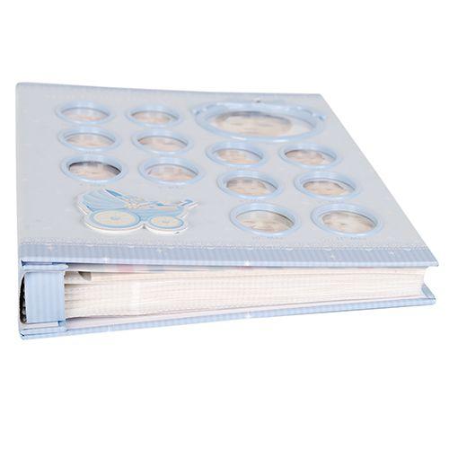 Álbum do bebê 100 Fotos 15x21 Primeiro ano Azul Square100/12