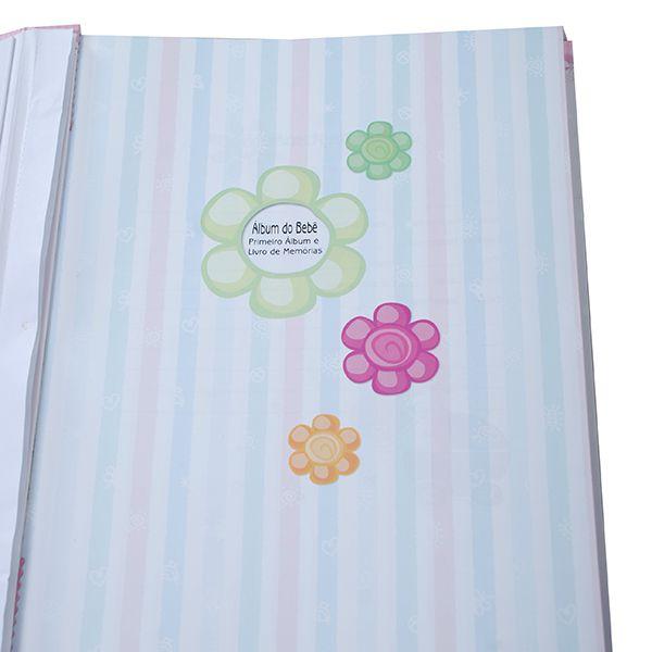 Álbum do bebê 180 Fotos 10x15 - Meu primeiro ano baby Azul Square
