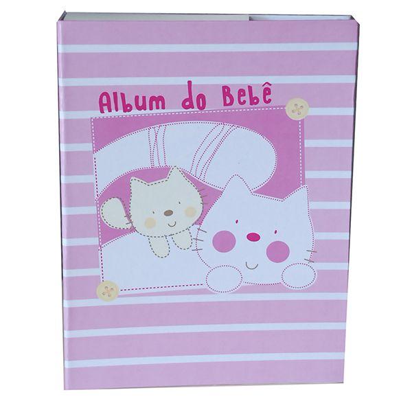 Álbum do Bebê Menina 200 Fotos 10x15cm Mimos Rec 301/07