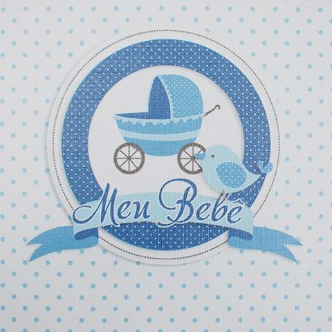 Álbum + Estojo Bebê 80 Fotos 15x21cm Design 10908-A0658