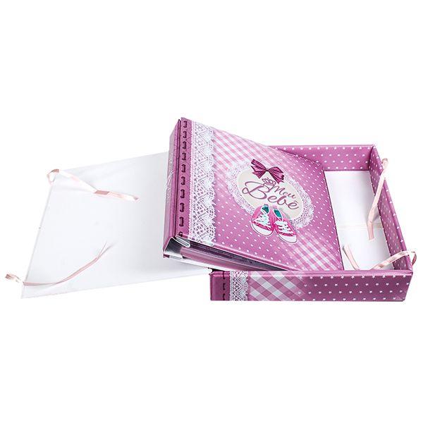 Álbum + Estojo Meu Bebê Menina 80 Fotos 15x21 Design 908/714