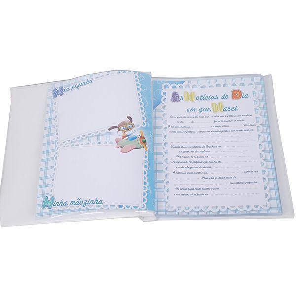 Álbum + Estojo Meu Bebê Menino 80 Fotos Design 908/572A