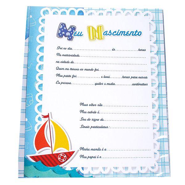 Álbum + Estojo 80 Fotos 15x21 Bebê Menino  Design 908/713