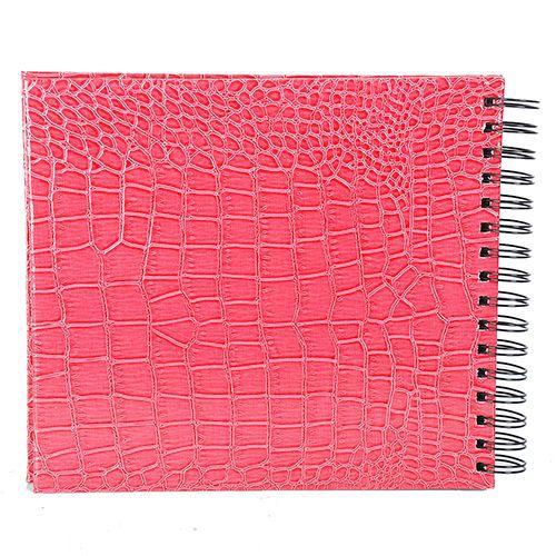 Álbum Scrapbook  20x23 Rosa Craquelado Square 554/03