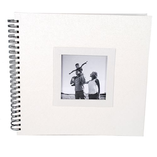 Álbum Scrapbook 30x33 Branco Perolado 20 Folhas Square 014/08
