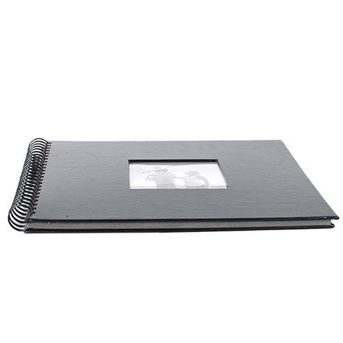Álbum Scrapbook Preto Liso 20x23 Com 20 Folhas Square 554/01