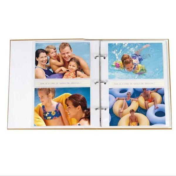 Álbum Viagem 200 Fotos 10x15cm Com Ferragem - Ical 587