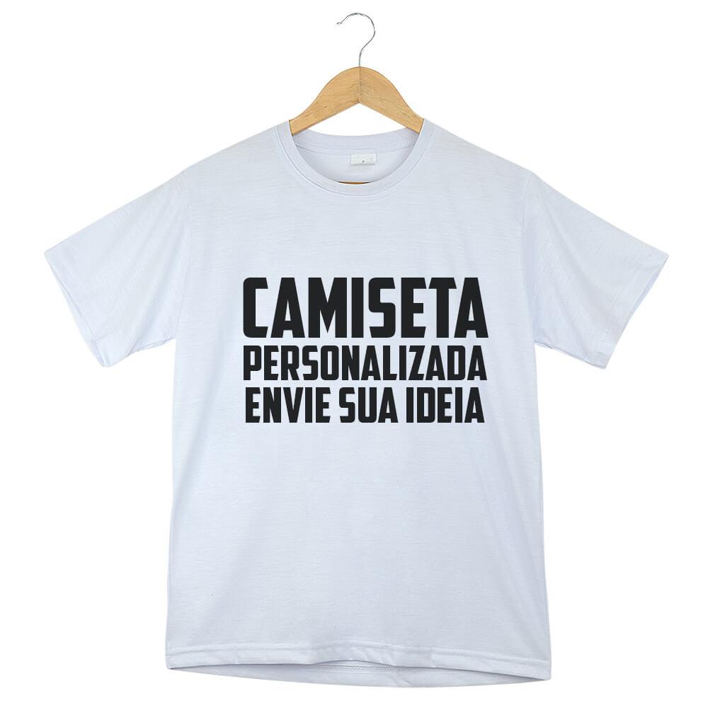 Camiseta Personalizada Adulto (P ou M)