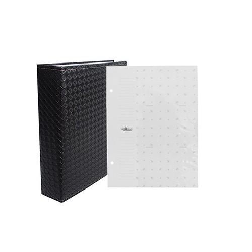 Kit 1 Album 450 fotos 10x15 (Preto) + 1 Refil de 10 folhas Rec