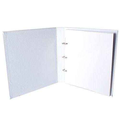 Kit 1 Álbum Autocolante Branco 404 + 1 Refil Autocolante Ical