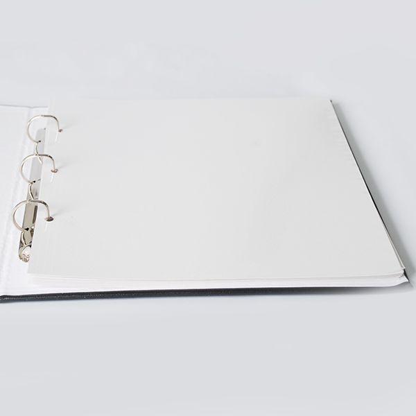 Kit 1 Álbum Autocolante Cinza 406 + 2 Refil Autocolante Ical
