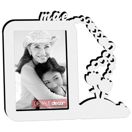 Porta-Retrato 10x15 Mãe Rosas Branco Geniale 11