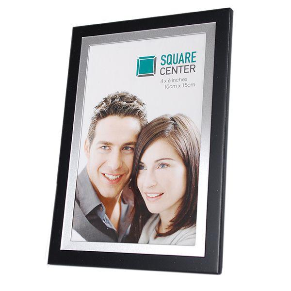 Porta Retrato 10x15 Preto Square Sci-1052-4