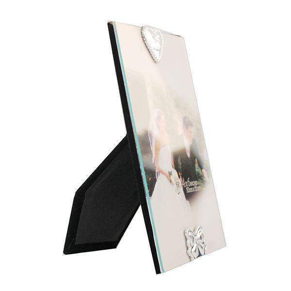 Porta Retrato 10x15 Square Love Vidro Sci-316