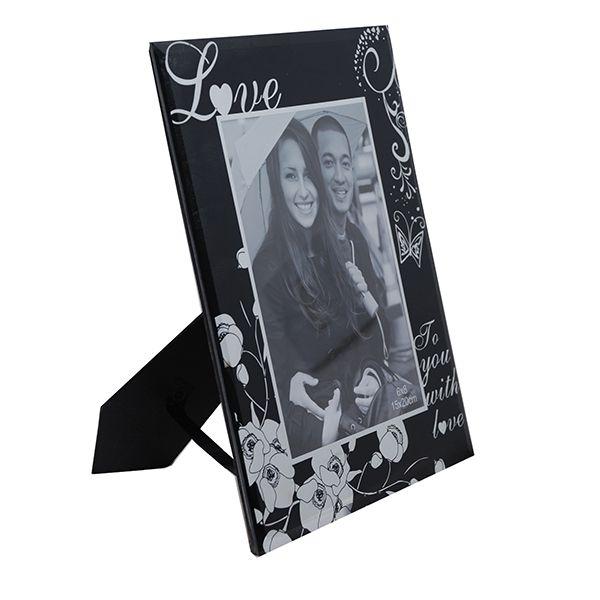 Porta Retrato 10x15 Vidro Love Vert Square PF-507-4