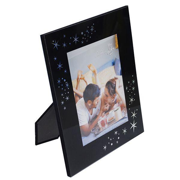 Porta Retrato 15x20  Preto De Estrela Square Vidro Sci-533-6