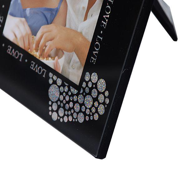 Porta Retrato 15X20 Preto Love Square Vidro Sci-527-6