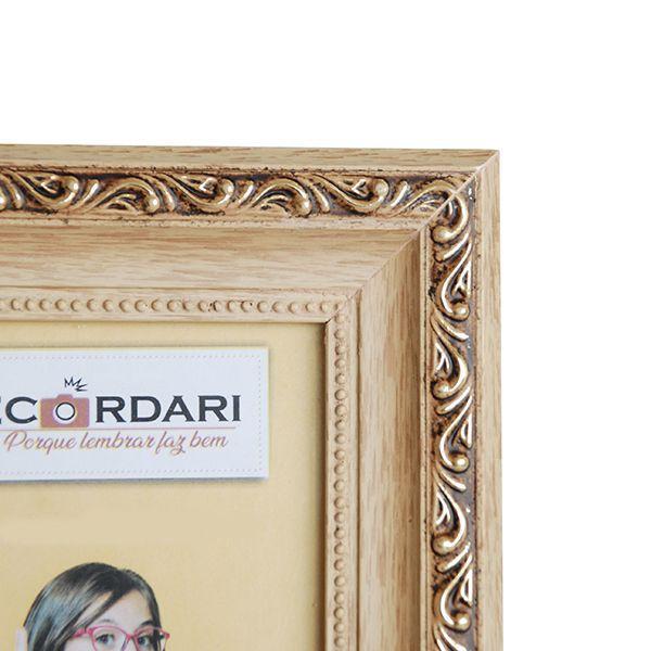 Porta Retrato 15x21 Madeira Ouro 45 mm Rec 113/01