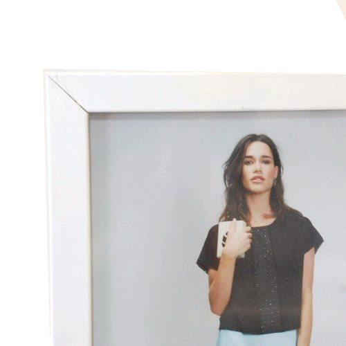 Porta Retrato 20x30 Branco Liso Madeira